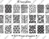 B.04 - leaves of happiness - nail stamping plates (B. Loves Plates )