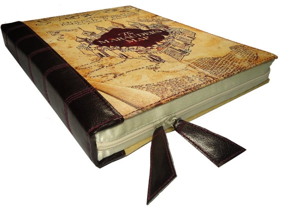 Old Book Computer Case : Laptop case harry potter marauders map book by caselibrary