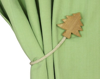 Decorative tree shaped magnetic curtains holdback