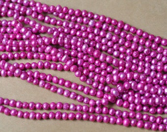 """Fuchsia Freshwater Pearl 5-7 mm 16"""" Strand* Close Out"""