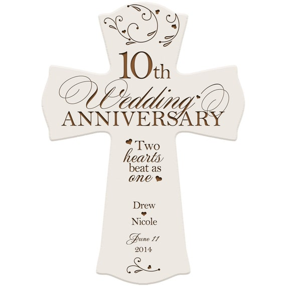 10 Years Wedding Anniversary Gift: Personalized 10 Year Anniversary Gift,10th Anniversary