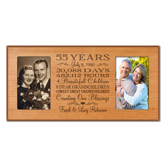 Wedding Anniversary Gifts 55 Years : 55th anniversary gift for him,55 year wedding anniversary gift ...