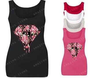 Bleeding Flower Diamond Women's Tank Top Fashion Tank Tops