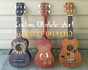 Custom Ukulele Art (Concert Ukulele)