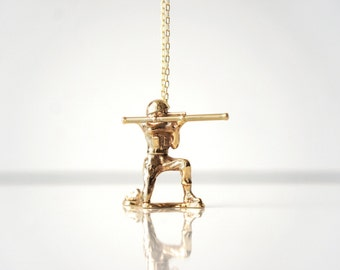 Kid at Heart - Soldier On by TO+WN DESIGN -  a necklace collection inspired by nostalgic childhood toys, gold brass