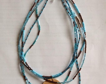 SALE!!! Superb Blue Wren Necklace By Meaghan Roberts
