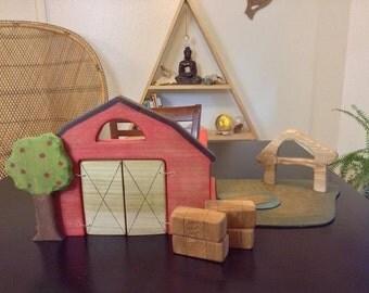 Wooden Barn set