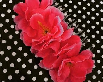 Handmade Cherry Blossom Hair Comb!