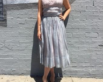 vintage 1950s tulle handmade lace bodice prom holiday nye dress