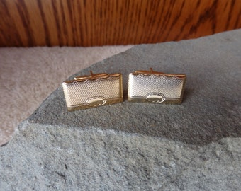 CLEARANCE SALE  Cuff Links Golden Very Nice Great Shape Vintage Men's Accessories Fashion