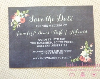 Sample - Save the Date - Spring Floral