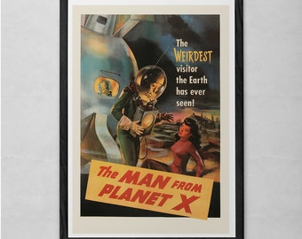 RETRO MOVIE POSTER - Retro Sci-Fi Movie Poster - Cult Movie Poster - Classic B-Movie Poster Art Sci-Fi and Fantasy Film Poster Retro Kitsch