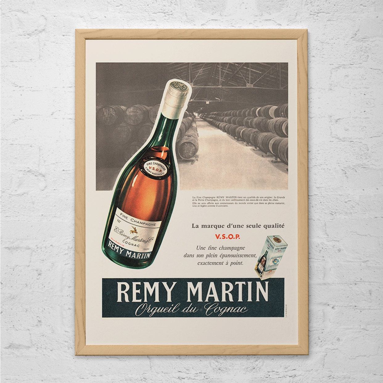 VINTAGE REMY MARTIN Ad Classic Cognac Ad Mid-Century