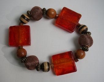 brown/red bracelet