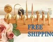 High Quality Professional Flower Making Tools. Ball (brass millinery irons) 16 items