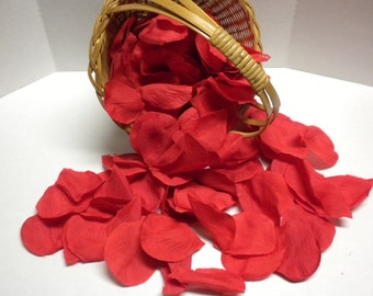 Red Wedding Petals-Silk Petals. Flower Petals, Fabric, Weddings, Receptions