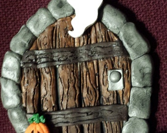 Halloween Fairy Door/ Gnome door