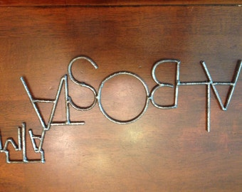 Personalized Names in Metal with College Logos