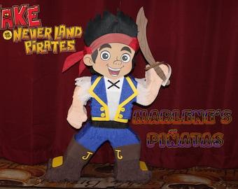 Jake, Izzy ,neverland pirate piñatas...!