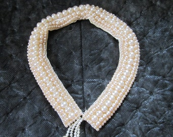 1940 - 1950s Pearl Collar from Art Craft