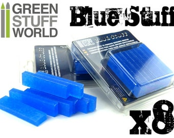 Blue Stuff - 8 bars - Make instant moulds with water - REUSABLE Material !!!
