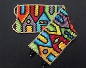 Peyote bracelet pattern - Hundertwasser inspired