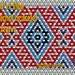 Red 'n' Blue huichol bracelet pattern
