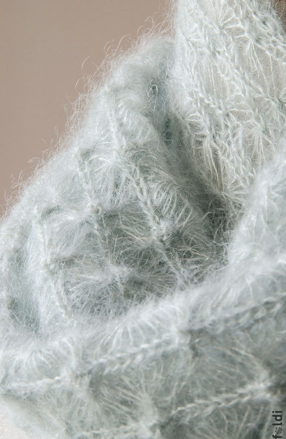 Knitting Pattern For Lace Snood : Items similar to Knitted lace cowl, silk and mohair lace cowl, knitted snood,...