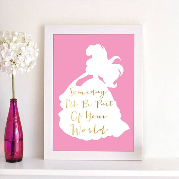 Disney princess ariel the little mermaid song quote silhouette