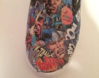 Marvel Comics,  Converse, Adult Comic Book Shoes,Custom Item