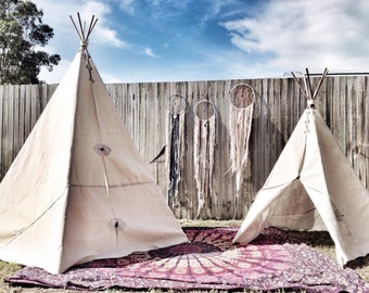 Large outdoor canvas Teepee tent 1.9m high x 1.6m wide, handmade wigwam, tepee, TENT ONLY, festival, glamping, gypsy, wedding prop
