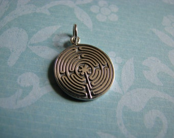 Labyrinth Solid Sterling Silver ~ 21mm x 15mm