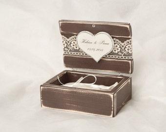 Wedding Ring Box Ring Bearer Box Ring Bearer Pillow Rustic Ring Box Wooden Ring Box