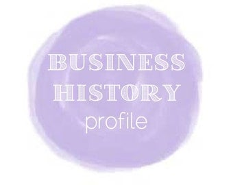 Writing Services: BUSINESS HISTORY profile