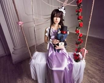 Vampire Knight Yuki Cross Yuki Kuran Takishiido Purple dress Cosplay Costume