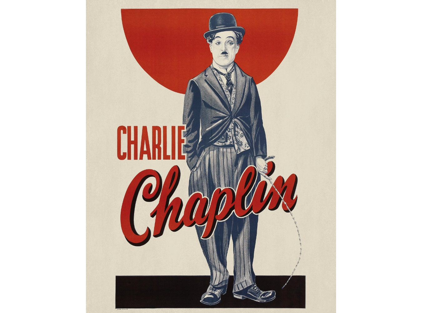 Charlie Chaplin Movie Poster Vintage Charlie by ...
