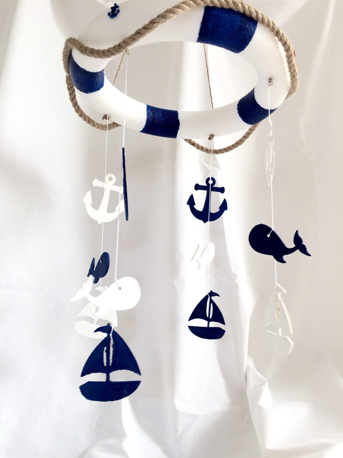 Ahoy Nautical Baby Crib Mobile Baby Mobiles By Theyellophant