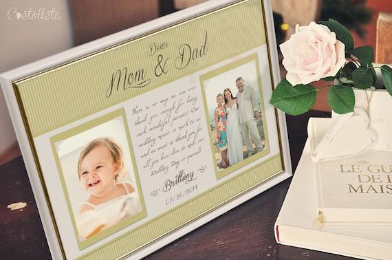 Thank You Wedding Gifts Parents : Parents Wedding Gift-Parents Thank You gift Wedding, Gift for Parents ...