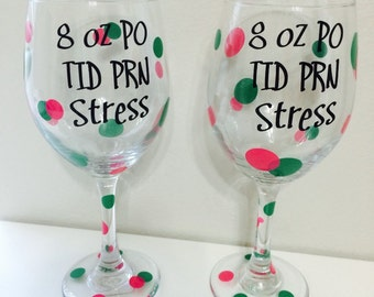Nursing wine glasses (2)