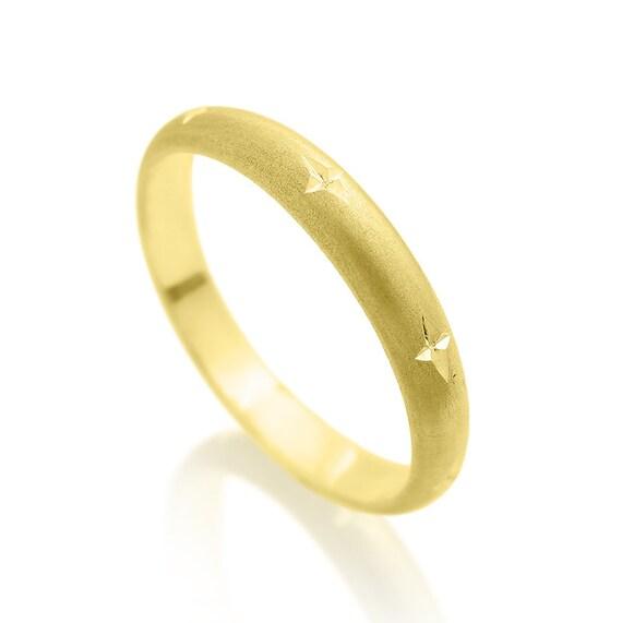 Mens wedding ring 14K gold, Men's Wedding band, Gold ring for men ...