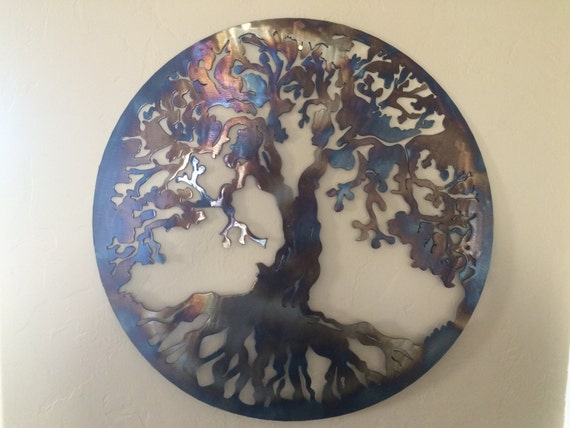 tree of life metal wall art decor by cre8ivemetaldesigns. Black Bedroom Furniture Sets. Home Design Ideas