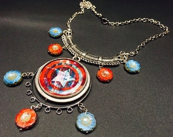 Captain America Necklace MADE TO ORDER