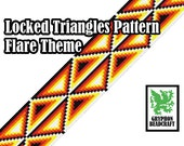 Loom Beading Pattern - Locked Triangles (Flare Theme)