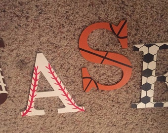Individual Sport Theme Letter