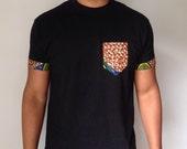 Pocket Style African Print Tshirt