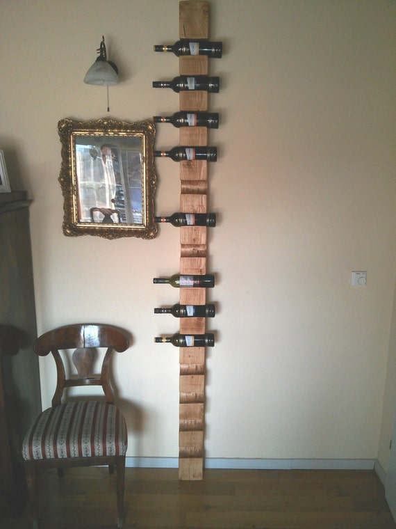 Items Similar To Very Long Wall Wine Rack For 14 Bottles