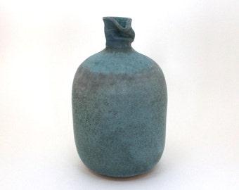 Matte Turquoise/Gray Vase Bottle