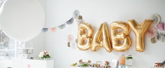 baby balloons gold foil mylar letter balloons balloon banner letter alphabet balloons baby shower