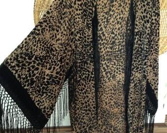 devore kimono,fringe kimono,burnout jacket,devore jacket.gypsy,velvet kimono,leopard animal print,devore,burnout kimono,velvet kimono