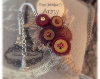 Harry Potter 'Dumbledores Army' alternative button brooch buttonhole